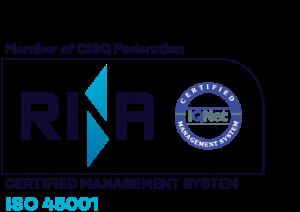 rina iso 45001 certification logo