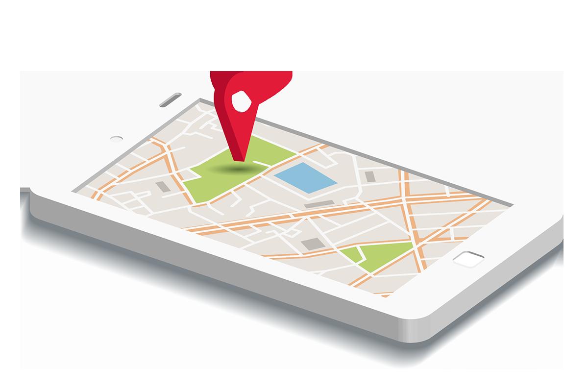 shipments location map