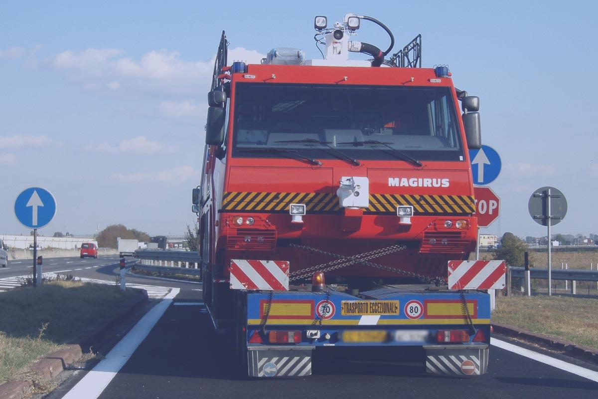 oversize road transports